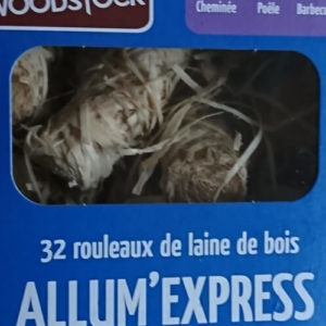 Allum Express, 32 rouleaux de laine de bois